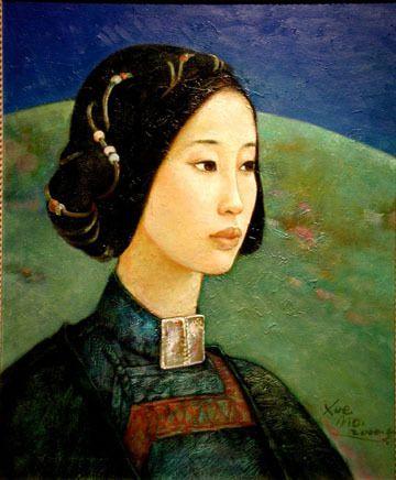 Xue-Mo (pintora nacida en Mongolia en 1961).
