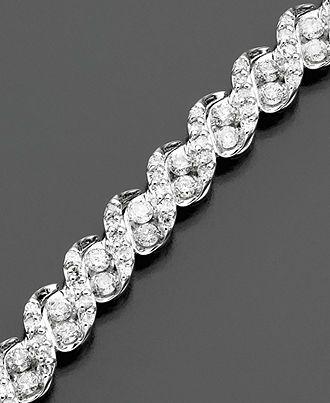Diamond Bracelet, 14k White Gold Diamond (3 ct. t.w.) - Diamonds - Jewelry & Watches - Macy's