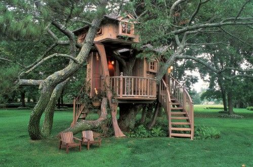 Tree home design. I need a treehouse one day. :)