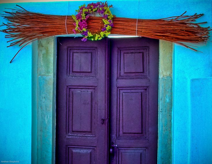 "500px / Photo ""Greek Door"" by Andrew Shepherd. Dramatic purple"