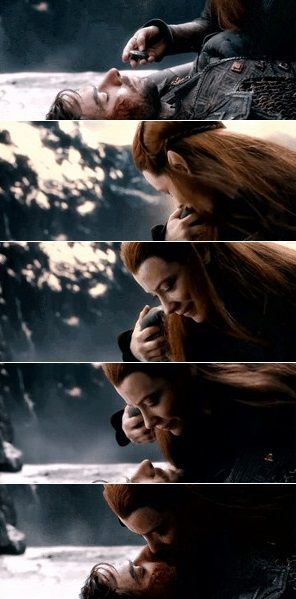 Kili & Tauriel. I don't care that he's a dwarf and she's an elf and they probably could have never been together. Their relationship was just so bittersweet and beautiful.