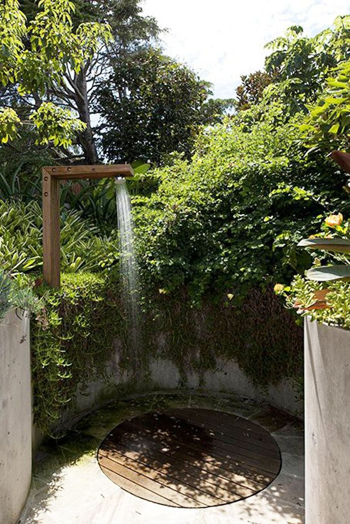 Not something that looks like it's real easy to do on your own, but a great outside shower none the less!