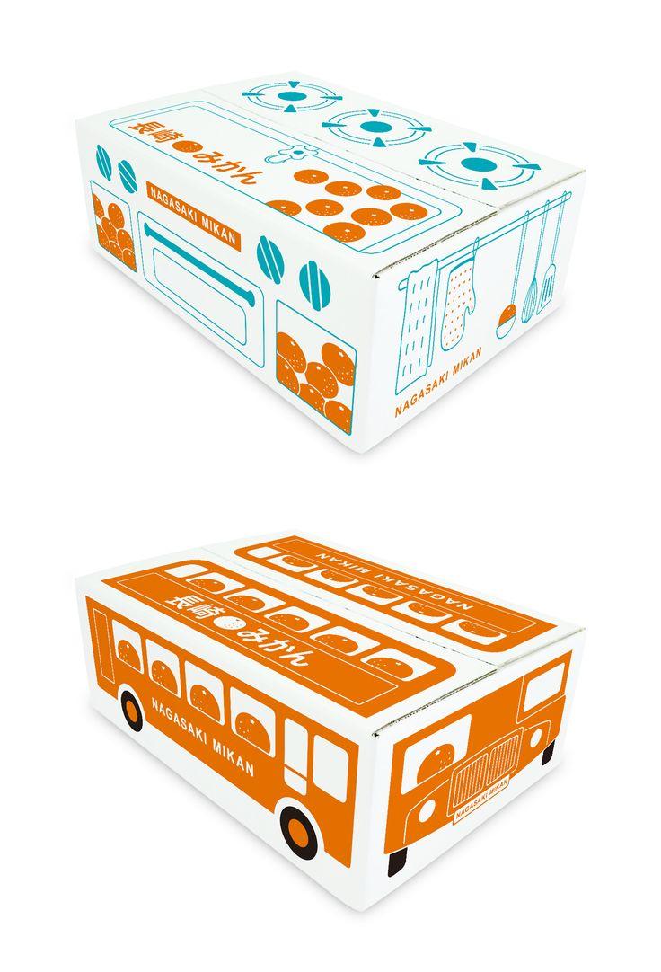 じいちゃん&ばあちゃんが孫に送る用みかん箱 / 段ボール, パッケージ, みかん, packaging