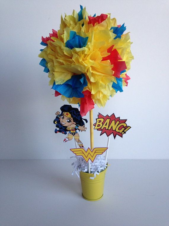 Wonder Woman Super Hero birthday party by AlishaKayDesigns on Etsy, $12.00