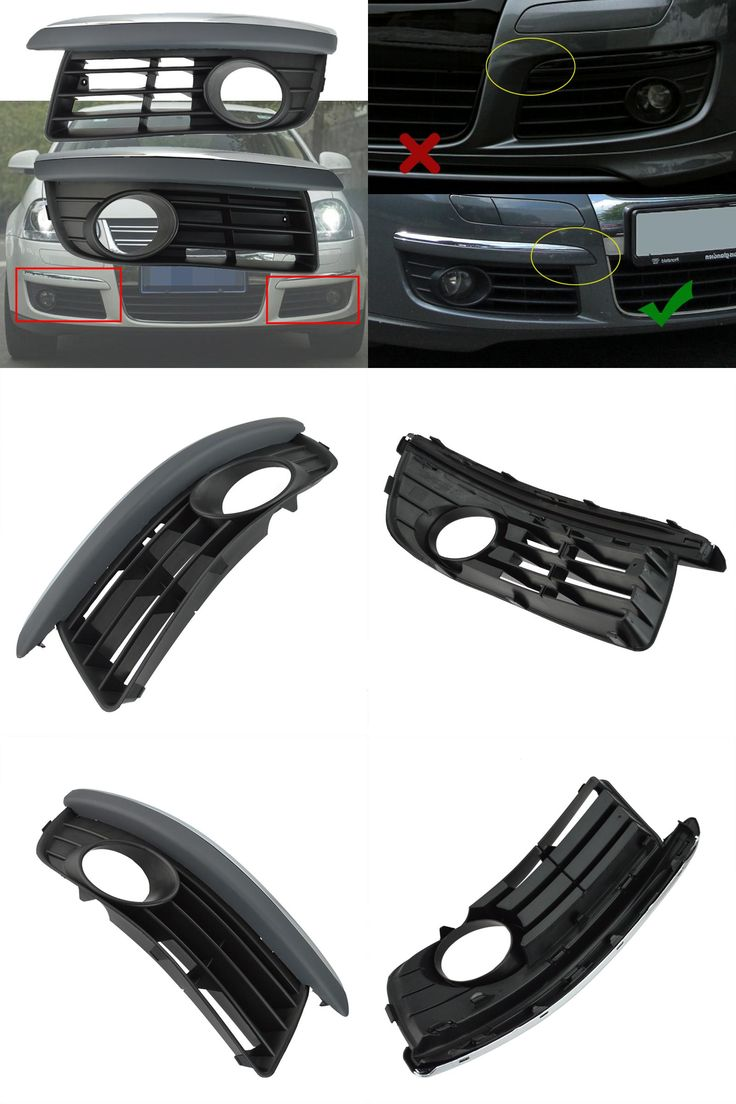 [Visit to Buy] For VW 2005-2010 Jetta Mk5 Front Lower Bumper Grill W/ Chrome Trim Left & Right Side #Advertisement