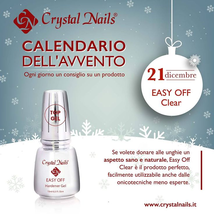 Calendario dell'avvento Crystal Nails - 21 dicembre #crystalnails #easyoff