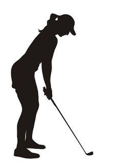Female Golfer Silhouette Decal Sticker Cricut Crafting Pinterest
