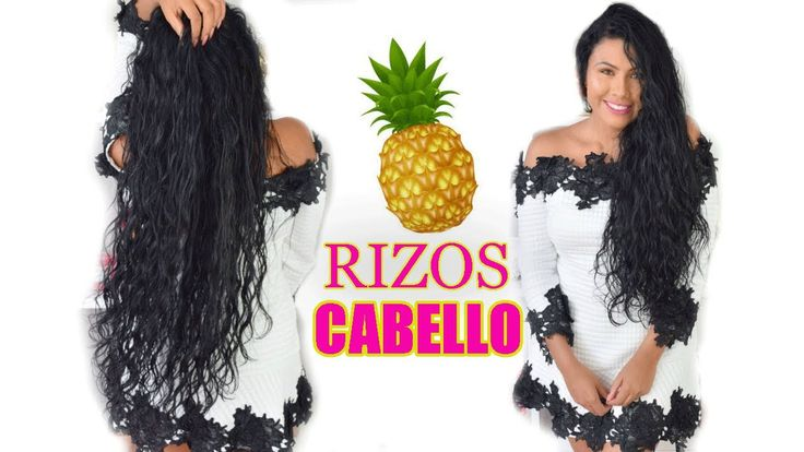 Rizar el Cabello con agua de cascara de piña 🍍 | De liso a rizado |Resol...