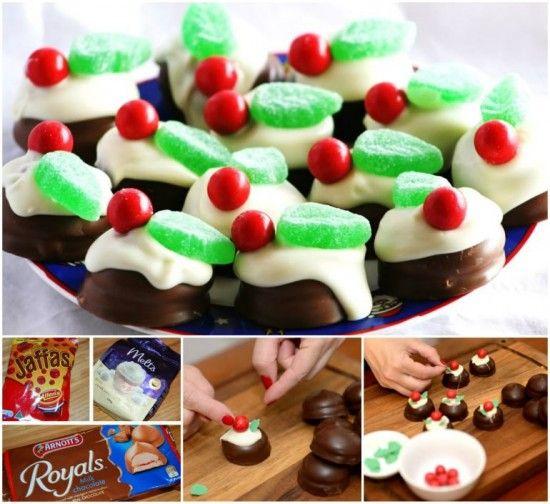 NO Bake Mini Christmas Chocolate Puddings