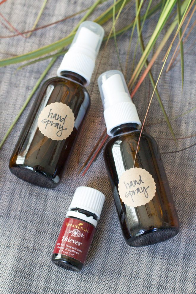 DIY Essential Oils Hand Sanitizer Spray