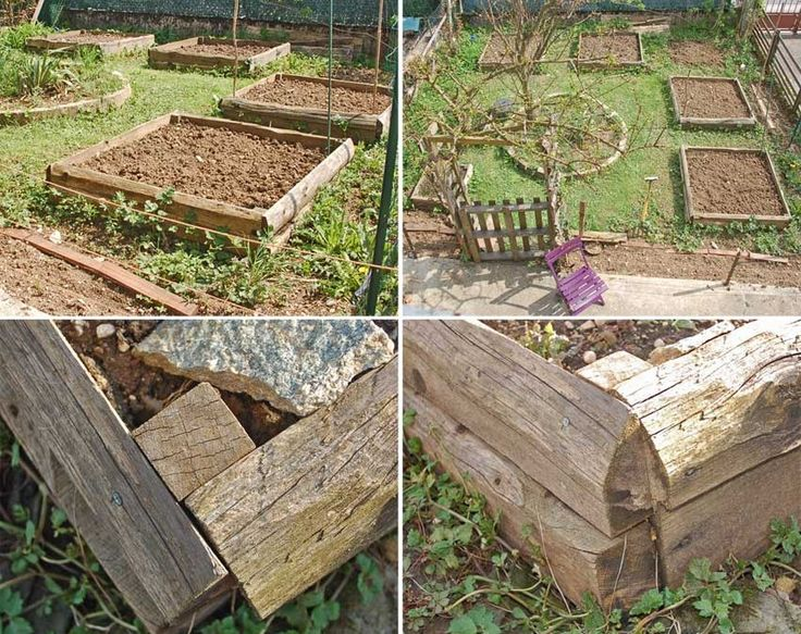 110 best potager en carr ou rectangle images on pinterest - Bac en bois pour jardin potager ...