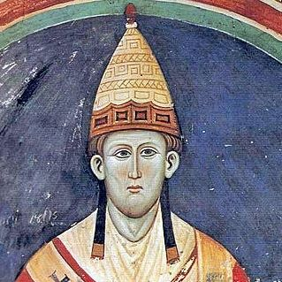 Paganism and Catholicism: Sun Worship- Pope Innocent III, with a hat resembling the apparel of Dagon's preists Public Domain https://commons.wikimedia.org/wiki/File:Innozenz3.jpg