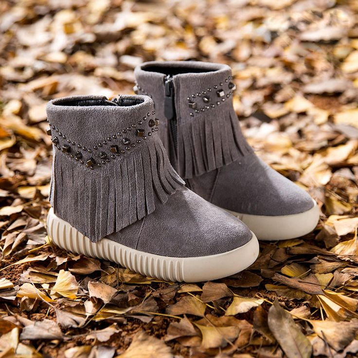 ==> [Free Shipping] Buy Best Genuine Leather Girls Fringe Boots Metal Decoration Toddler Winter Boots Thick Warm Princess Kids Boots TX155 Online with LOWEST Price | 32581784728
