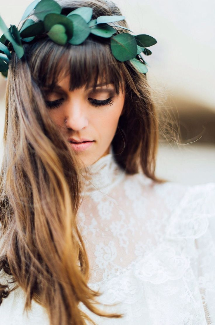 Naturally dried eucalyptus leaf crown from Love Sparkle Pretty for brides, bridesmaids and styled photo shoots. Photo by Desiree Shuey | Eucalyptus Floral Crown | Bridal Flower Crown | Bridesmaids Flower Crown | Bridal Hairstyles