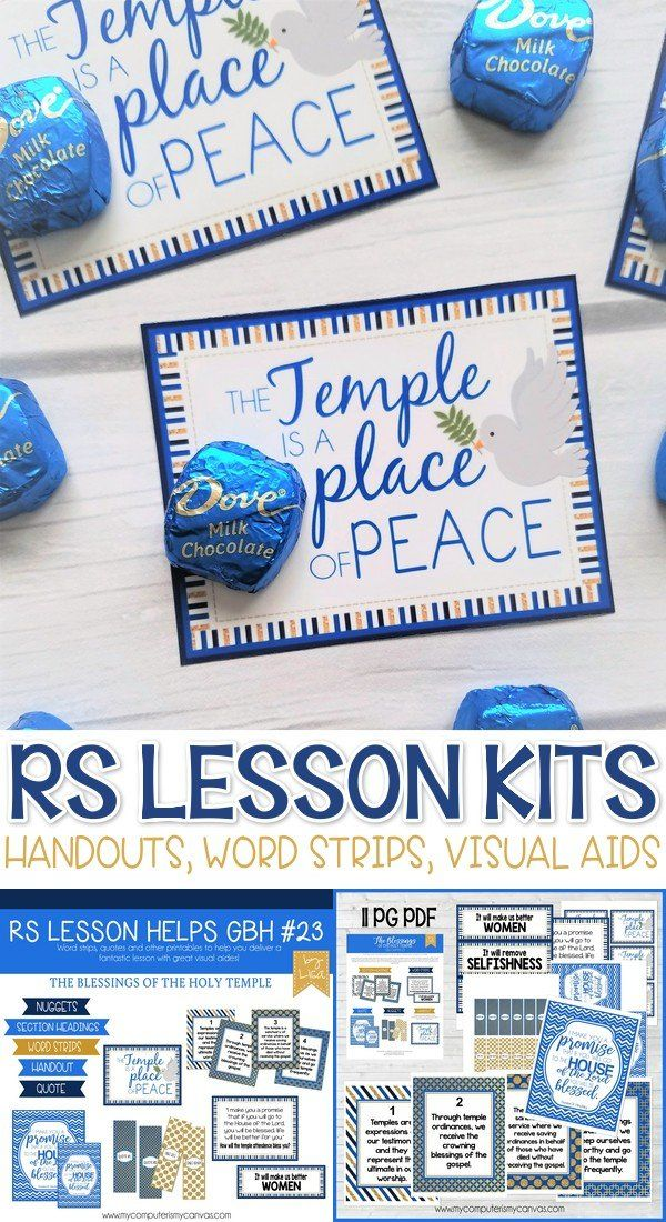 Printable RS Lesson Helps, Relief Society Printables, Temple handout, printable lesson kit #mycomputerismycanvas