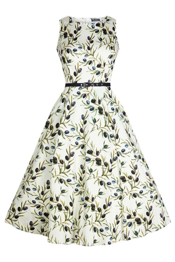 Hepburn Dress - Olives