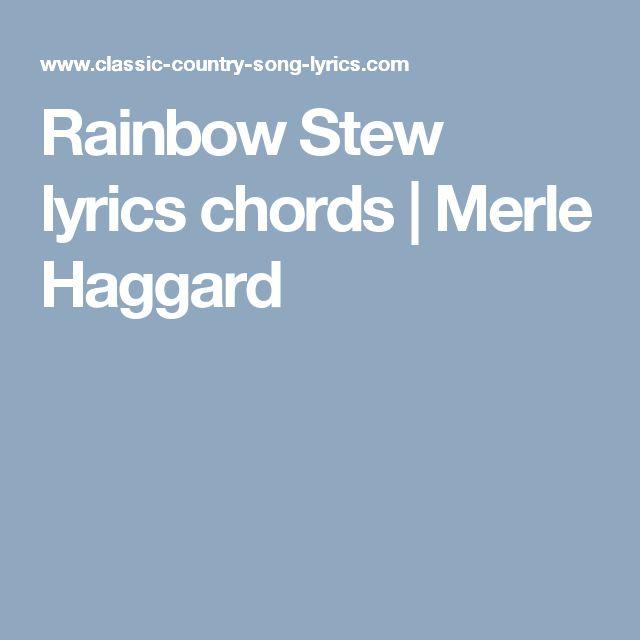 Merle Haggards Rainbow Stew Recipe - Genius Kitchen