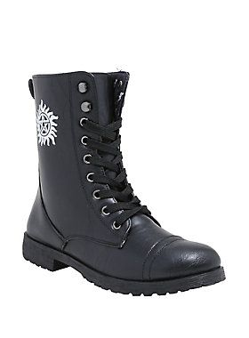 Must. Possess. // Supernatural Anti Possession Combat Boots
