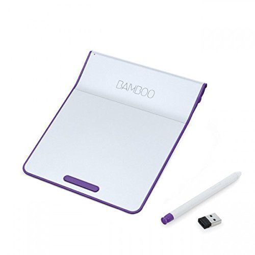 NEW With Wacom pen touch pad wireless Bamboo Pad Purple CTH300U Japan F/S #NA