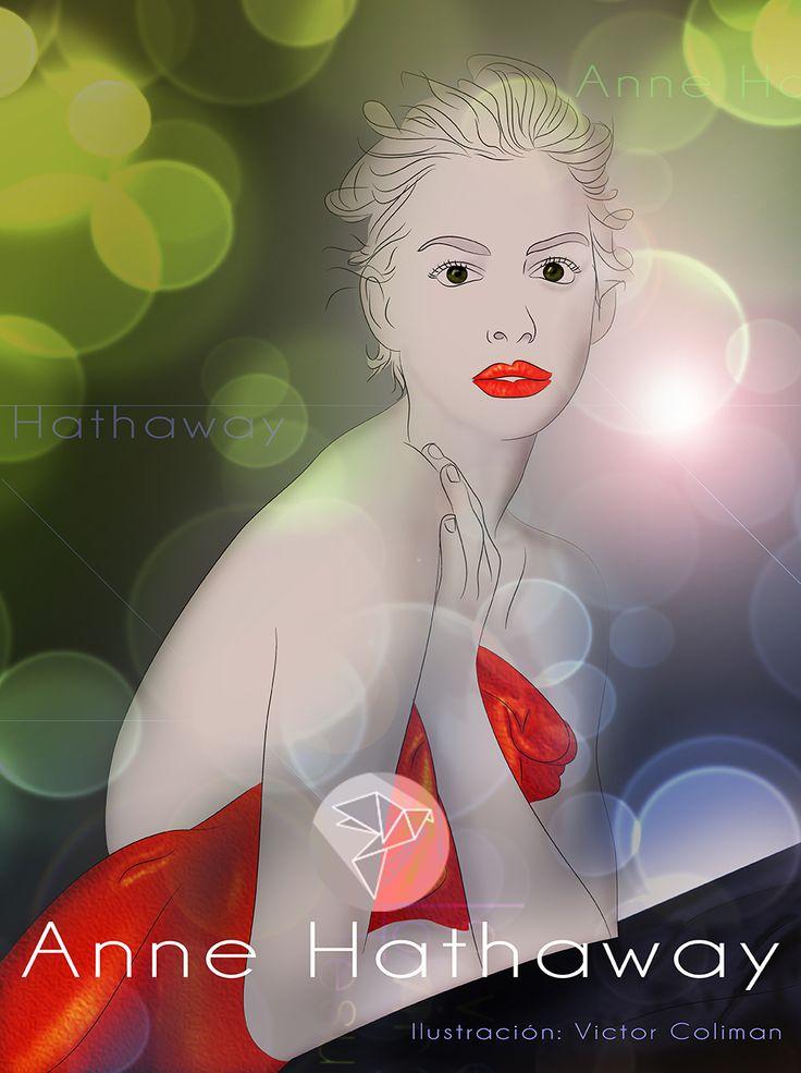 Anne Hathaway, ilustración vectorial y algunos retoques en photoshop