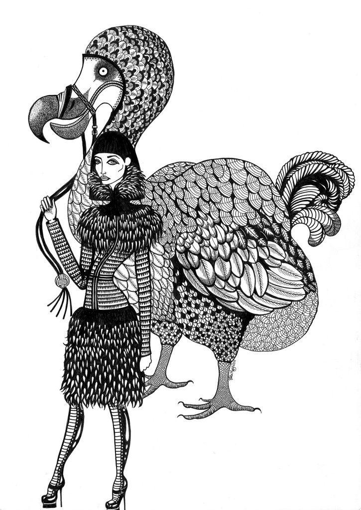 Kunst plakat // Limited edition art print // 'Dodo Lady'by Ida Svenungsson