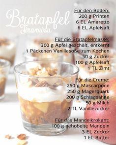 Rezept Bratapfel Tiramisu | Köstliches Dessert-Rezept für den kommenden Herbst & Winter | Anleitung auf waseigenes.com | baked apple tiramisu recipe / desserts