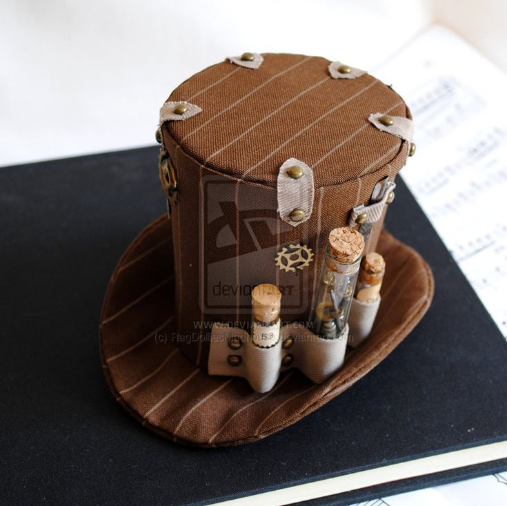 How to Make Steampunk   The Watchmaker's Steampunk Mini Top Hat by RagDolliesMadhouse