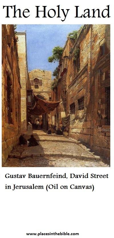 David Street in Jerusalem, by Gustav Bauernfeind (Oil on canvas)