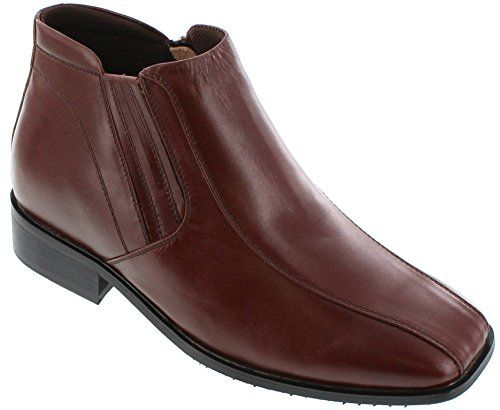 CALDEN Height Increasing Elevator Shoes (Brown Dress Boots)  3.2 Inches Taller - Size 9 D US - *** You can find more details by visiting the image link.