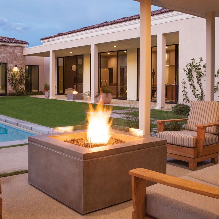 The Quad Outdoor Fire Table is ideal for social gatherings, and a destination for guests to all gather together.