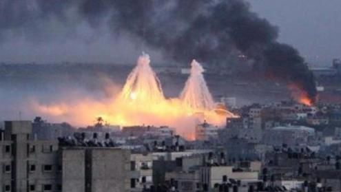 Israel using white phosphorus during thier operation at GAZA