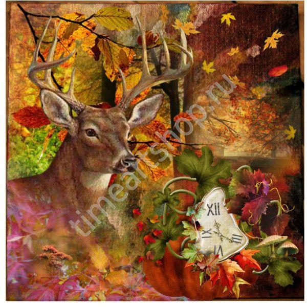 Осенний лес, картина раскраска по номерам, картина своими руками, размер 40*50см, цена 750 руб.