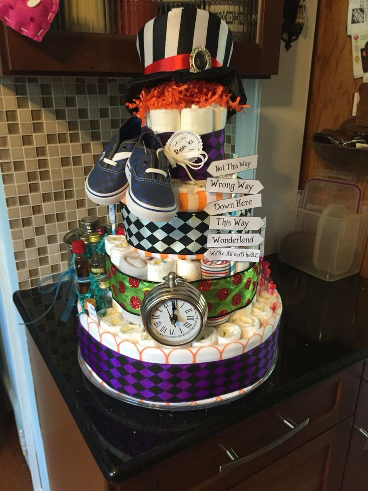How To Make A Mad Hatter Diaper Cake