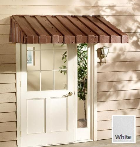 East Iowa Plastics C63WH Door Canopy, 63 in., White by East Iowa Plastics. $275.74. Design is stylish and innovative. Satisfaction Ensured.. Great Gift Idea.. Manufactured to the Highest Quality Available.. WEATHERBEST WINDOW AWNINGS & DOOR CANOPIES. Homeowners can add beauty and lasting value to their homes with easy-to-install WeatherBest Window Awnings and Door Canopies. These quality products reduce cooling costs and protect home interior finishes from fad...