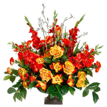 "34"" Gladiolus, Ranunculus & Rose Silk Flower Arrangement -Orange/Flame  http://www.ebay.com/itm/34-Gladiolus-Ranunculus-Rose-Silk-Flower-Arrangement-Orange-Flame-/221162858058?pt=Floral_Decor=item337e55664a"