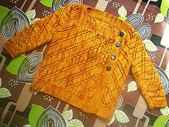 Ravelry: Top Notch Baby Cardigan and booties pattern by Kristen Rengren