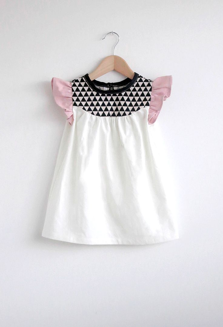 Handmade Cotton Dress With Geo Print Detail | SwallowsReturn on Etsy