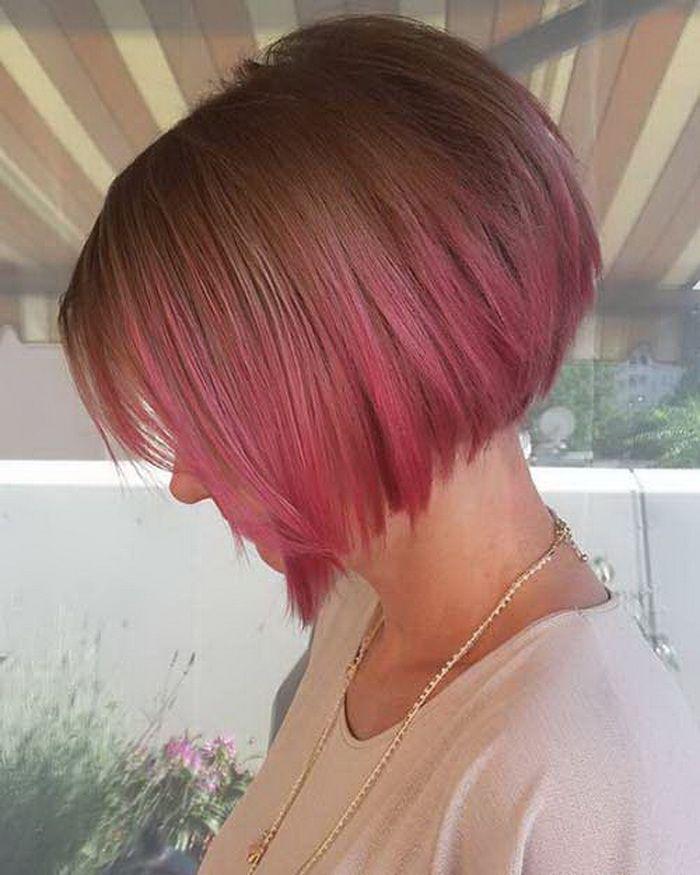 Ombre Pink Hair Bob #KurzeTrendigeHaare #TrendigeFrisurenFürKurzeHaare #TrendyKurzeFrisur #TrendyShortFrisuren #TrendyShortFrisurenFürFrauen