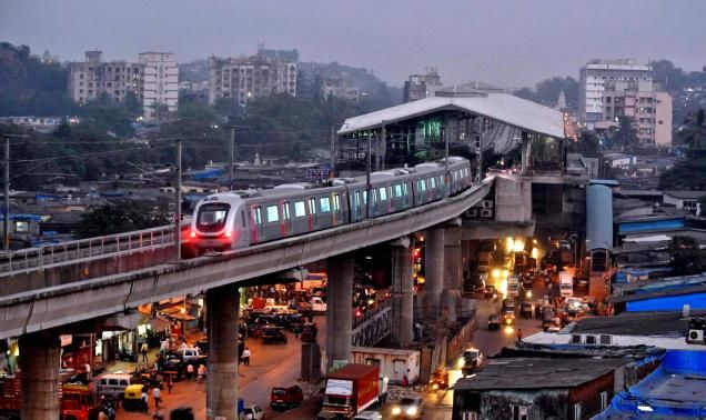 Beautiful Aerial view of the Mumbai Metro                              …