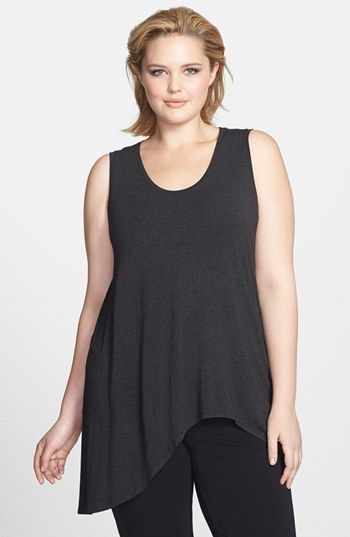 Eileen Fisher Asymmetrical Tank (Plus Size) available at #Nordstrom