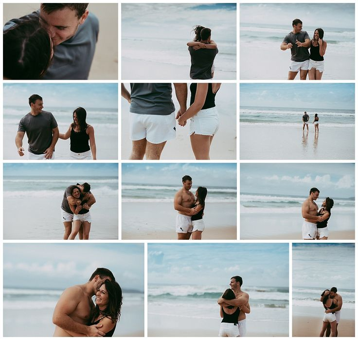Beach side engagement shoot Couples photoshoot Brina Debalinhard Photography
