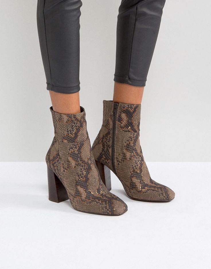 TOP Stiefel Damenschuhe Keilabsatz Boots Strass 5162 Braun Grau 39