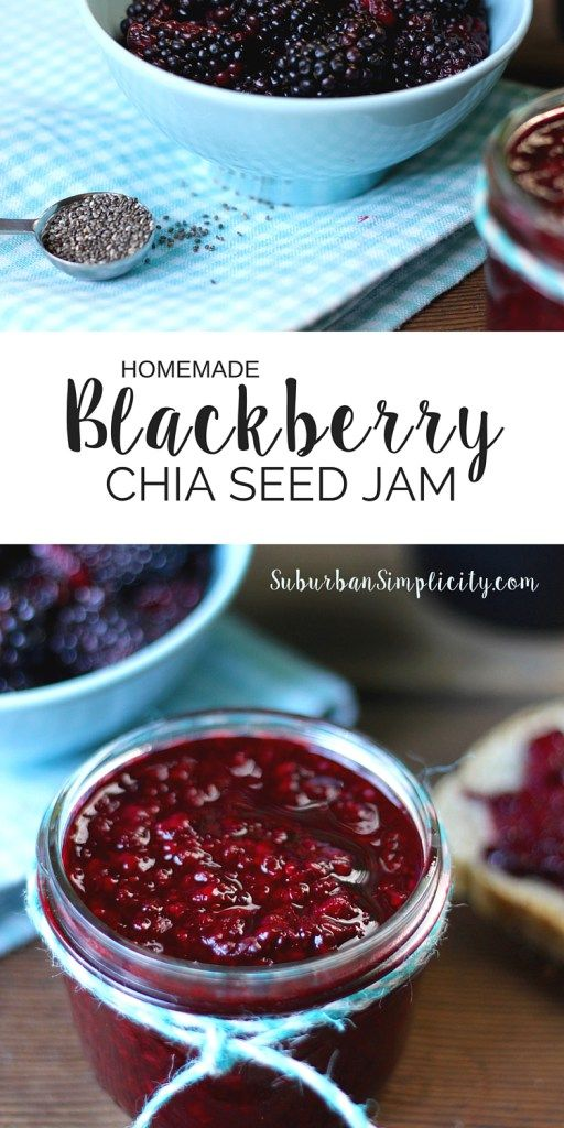 In less than 20 minutes, you can make this delicious Homemade Blackberry Chia Seed Jam! This jam recipe is amazing on everything from toast to pancakes. GF and no refined sugar.
