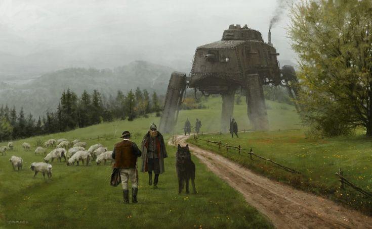 quibbll.com - Художник Якуб Розальский (Jakub Rozalski): «1920 - как волк среди овец»