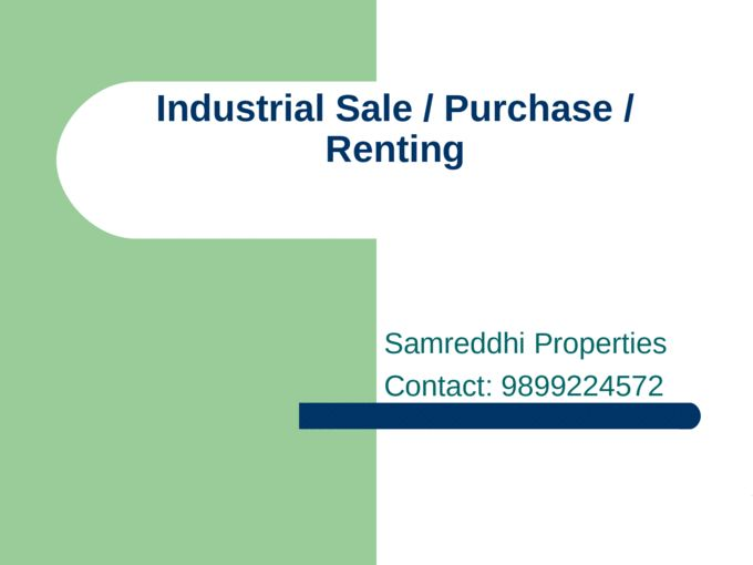 Samreddhi Properties is a global leader in Industrial real estate services, helping clients transform the way people work, shop, and live. The firm's employees in noida…