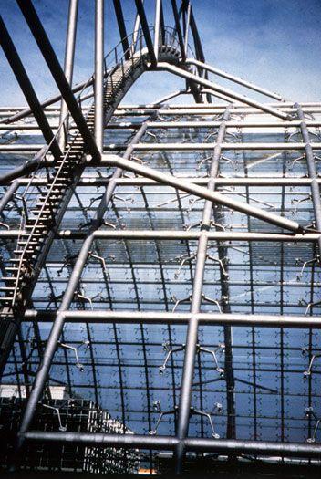 Leipzig Neue Messe: Hall structure