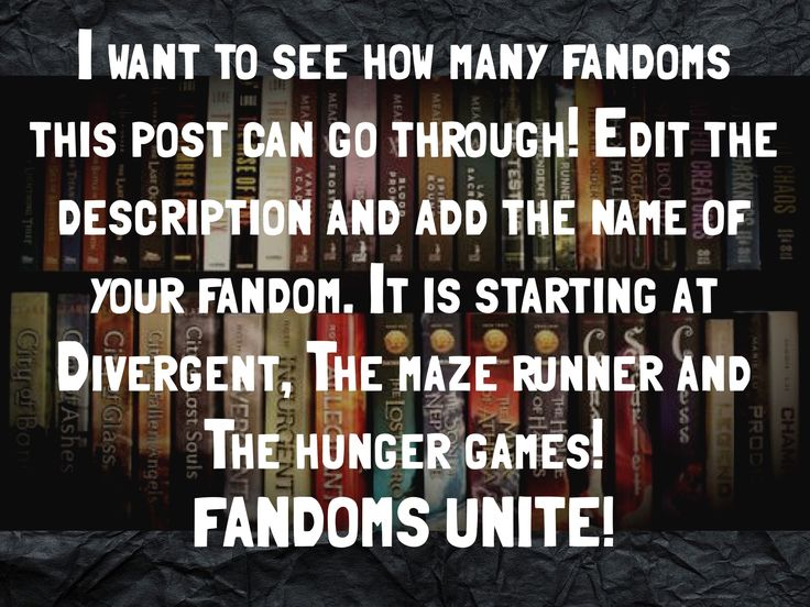 The hunger games,the maze runner,divergent,Harry potter,Percy Jackson,the mortal instruments