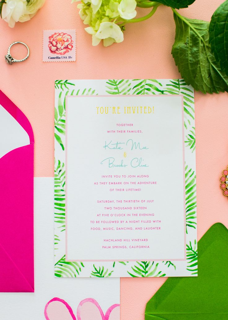 summer wedding invitation wording%0A Miss Palm Springs Wedding Invitation Suite Designed by Simply Jessica Marie    Zipporah Photography