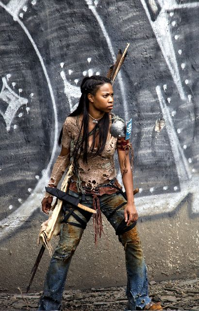 A costume from the short film Scourge. Proper link is http://audreysdesignjournal.blogspot.ca/2011/12/scourge-post-apocalyptic-fashion.html