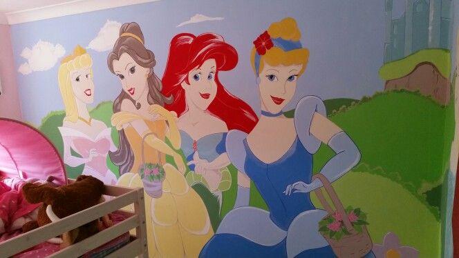 Hand painted princess wall